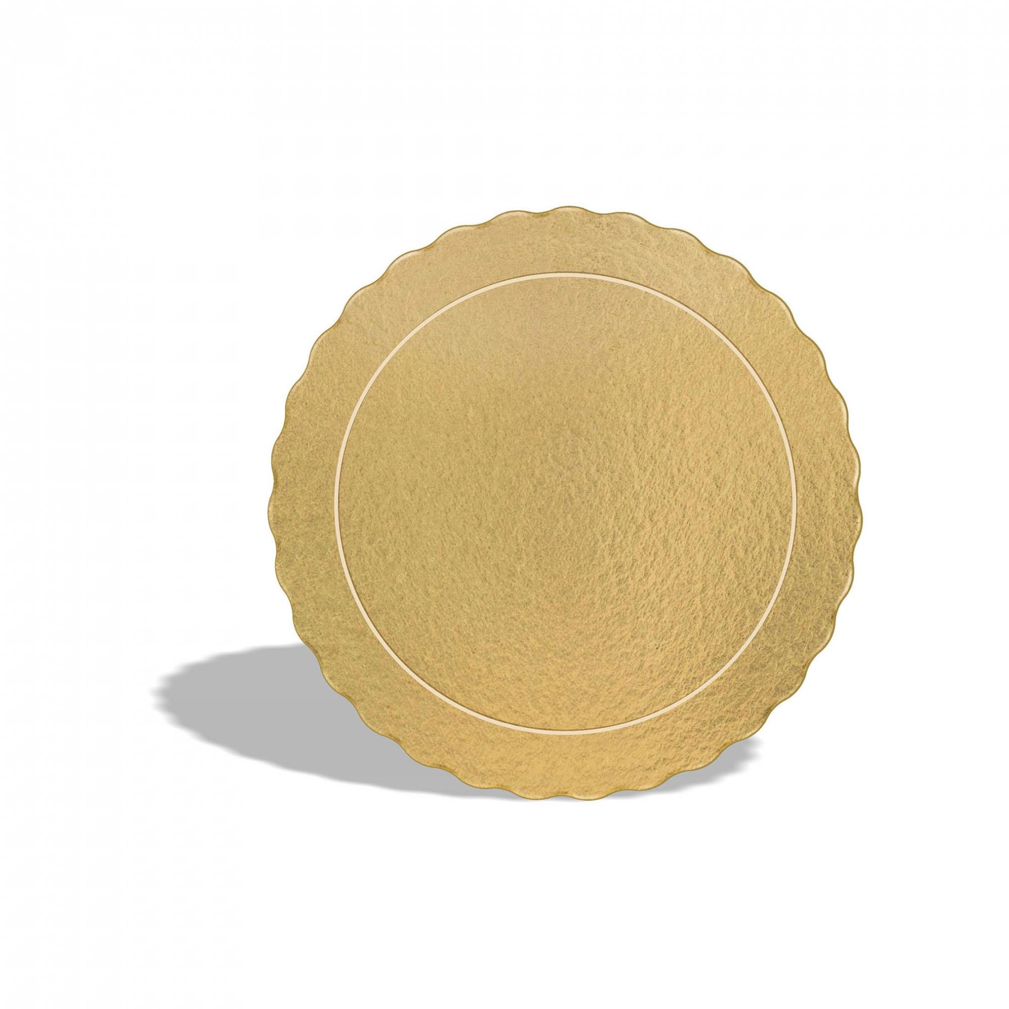 20 Bases Laminadas Para Bolo Redondo, Cake Board 32 cm - Ouro