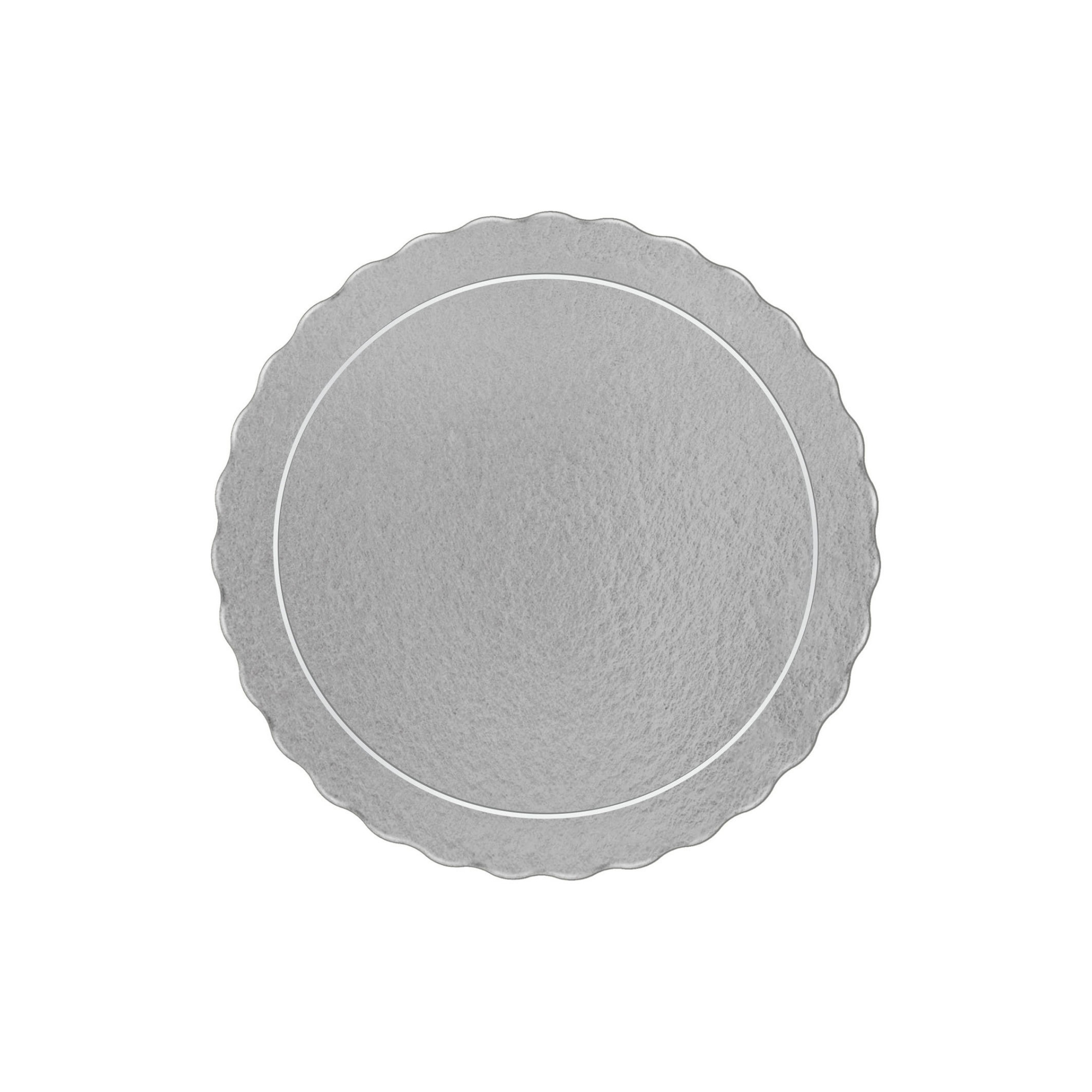 20 Bases Laminadas Para Bolo Redondo, Cake Board 35 cm - Prata