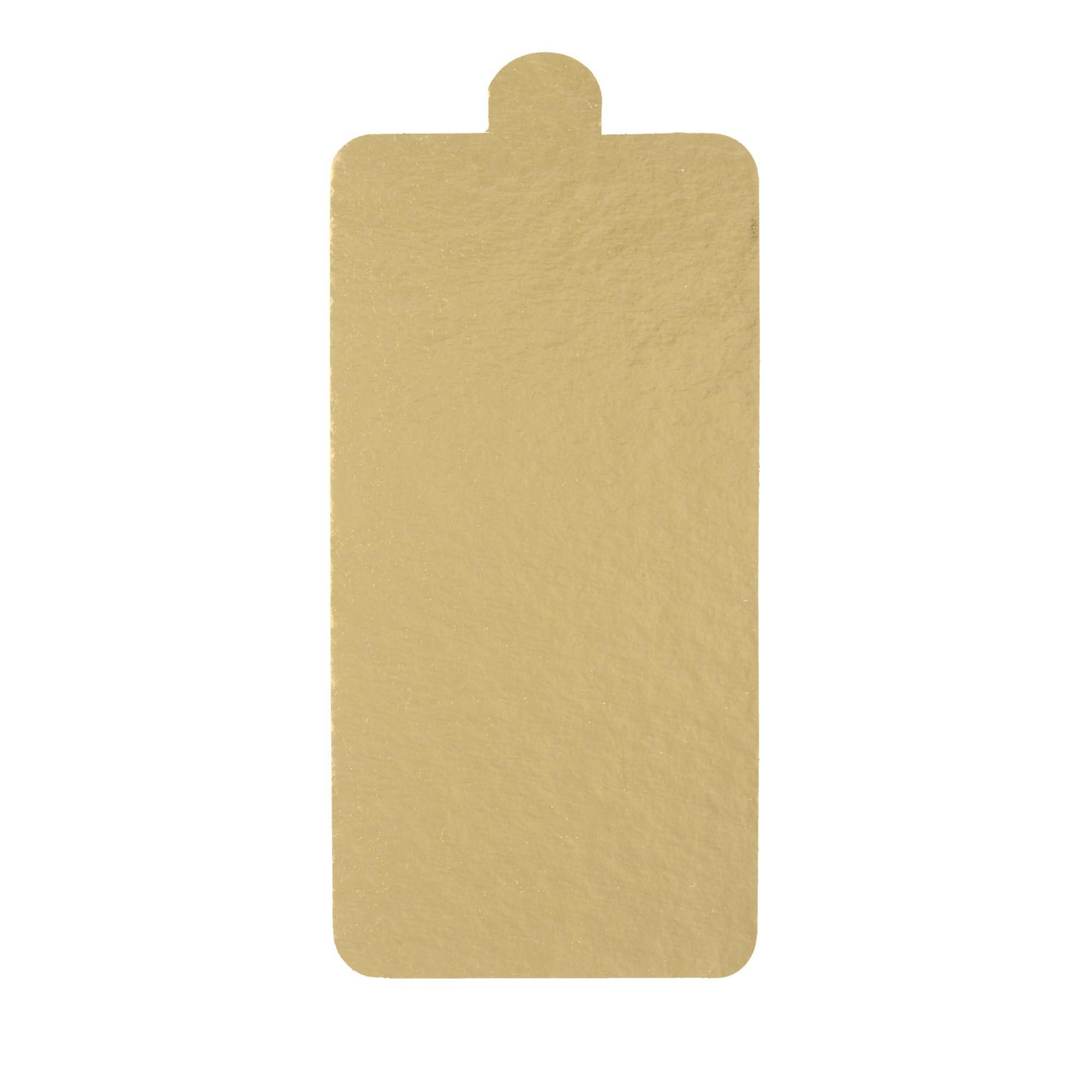 500 Bases Laminadas, Suporte P/ Bomba de Chocolate e Doces 14x7cm - Ouro
