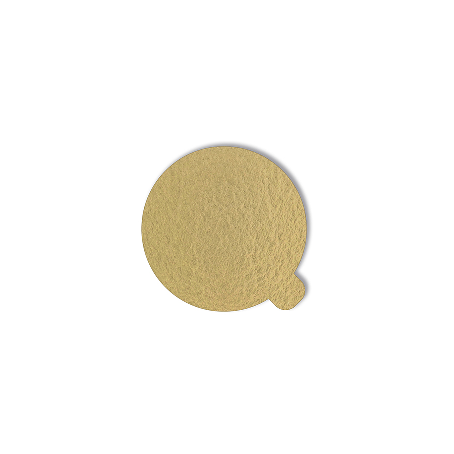 500 Bases Laminadas, Suporte P/ Brigadeiros e Doces 5,5cm - Ouro