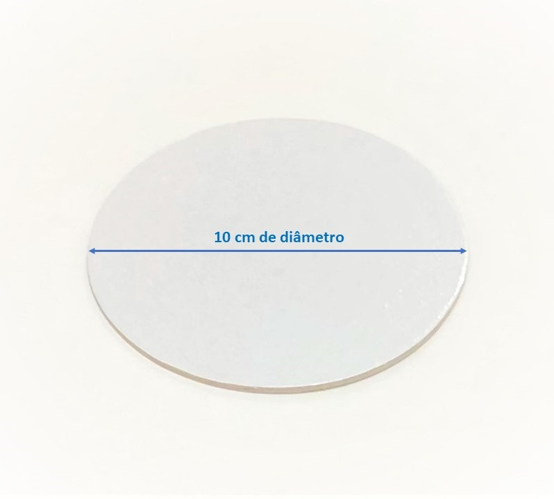 500 Bases Laminadas, Suporte P/ Brigadeiros e Doces, Disco de 10cm - Branca