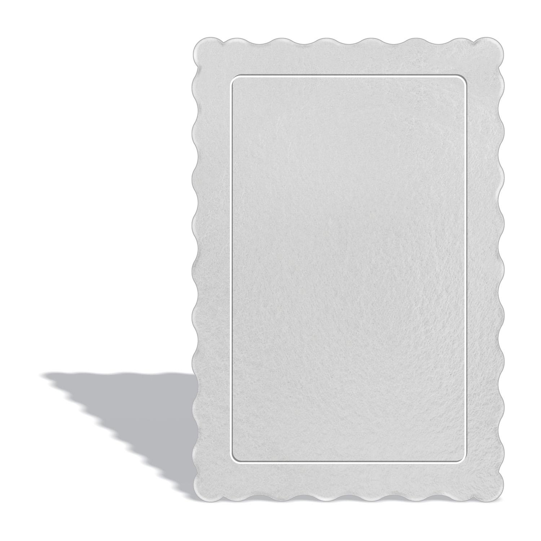 50 Bases Laminadas P/ Bolo 30x20cm - Branca