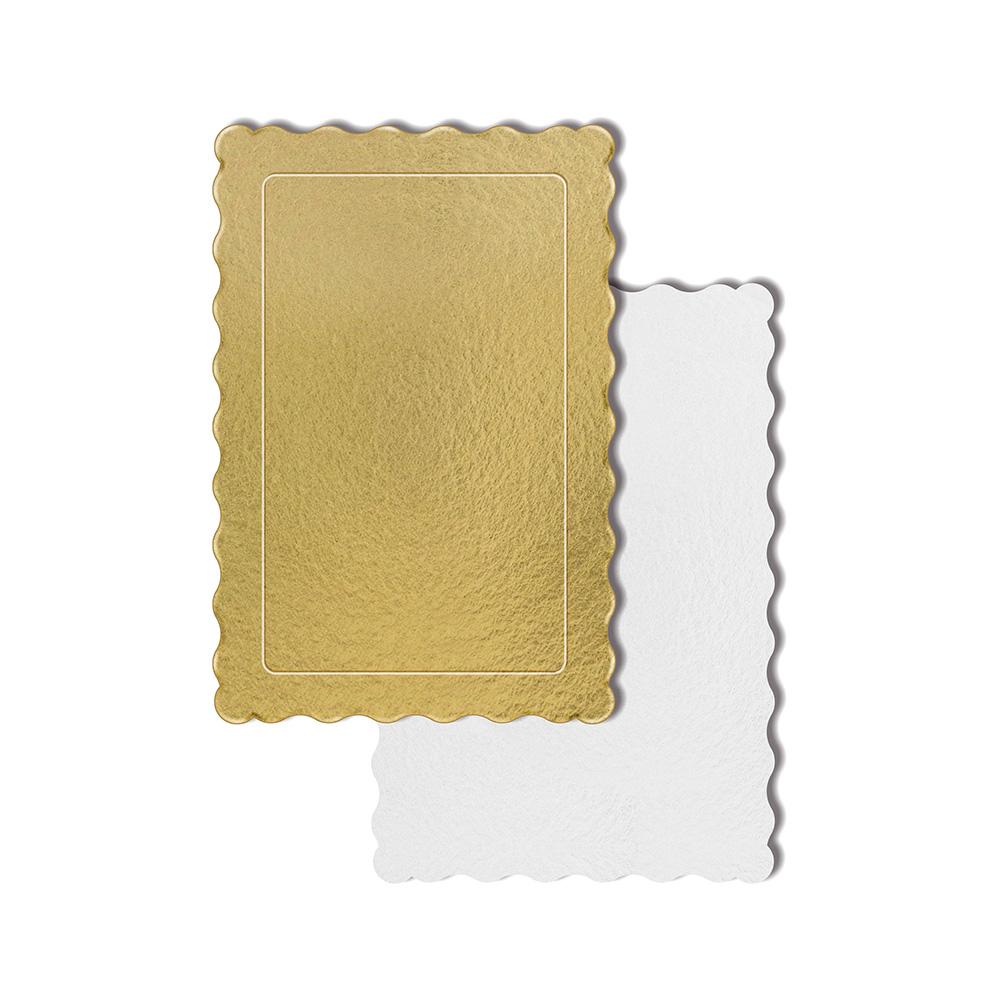50 Bases Laminadas P/ Bolo 30x20cm - Ouro