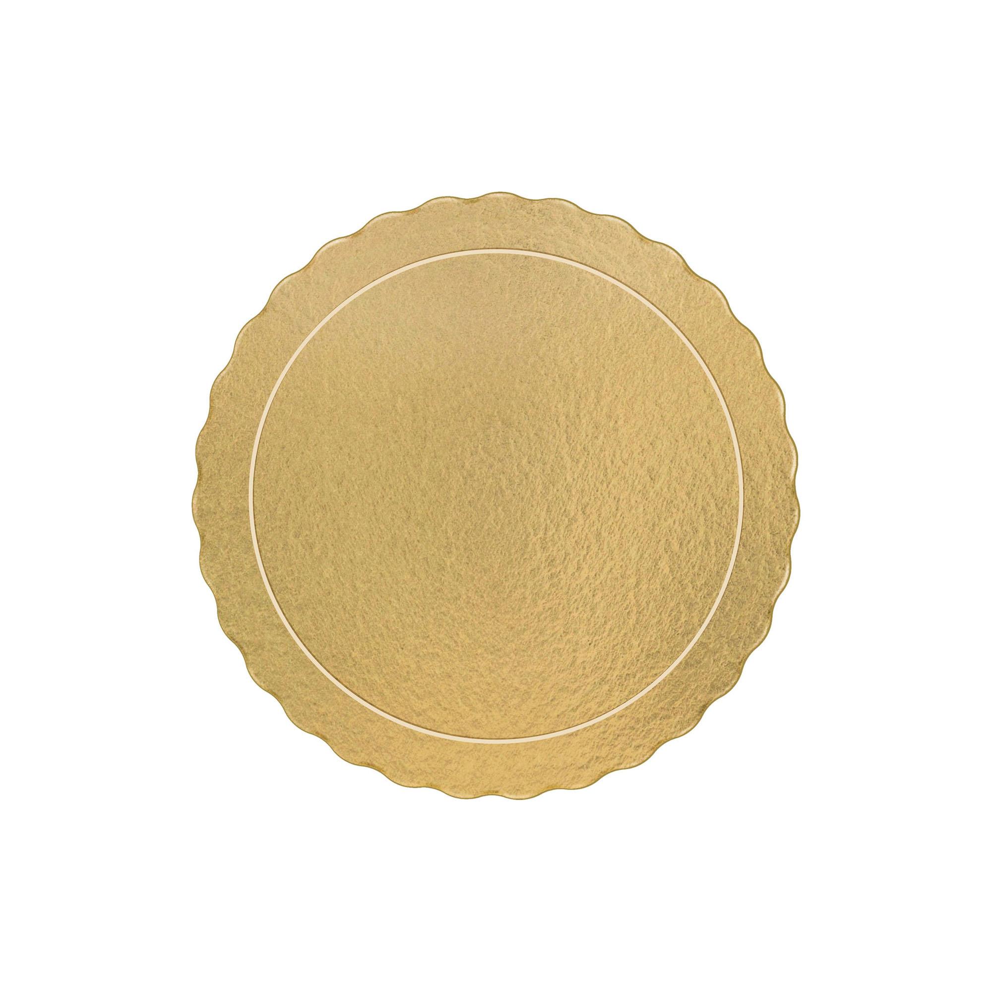 50 Bases Laminadas Para Bolo Redondo, Cake Board 32cm - Ouro
