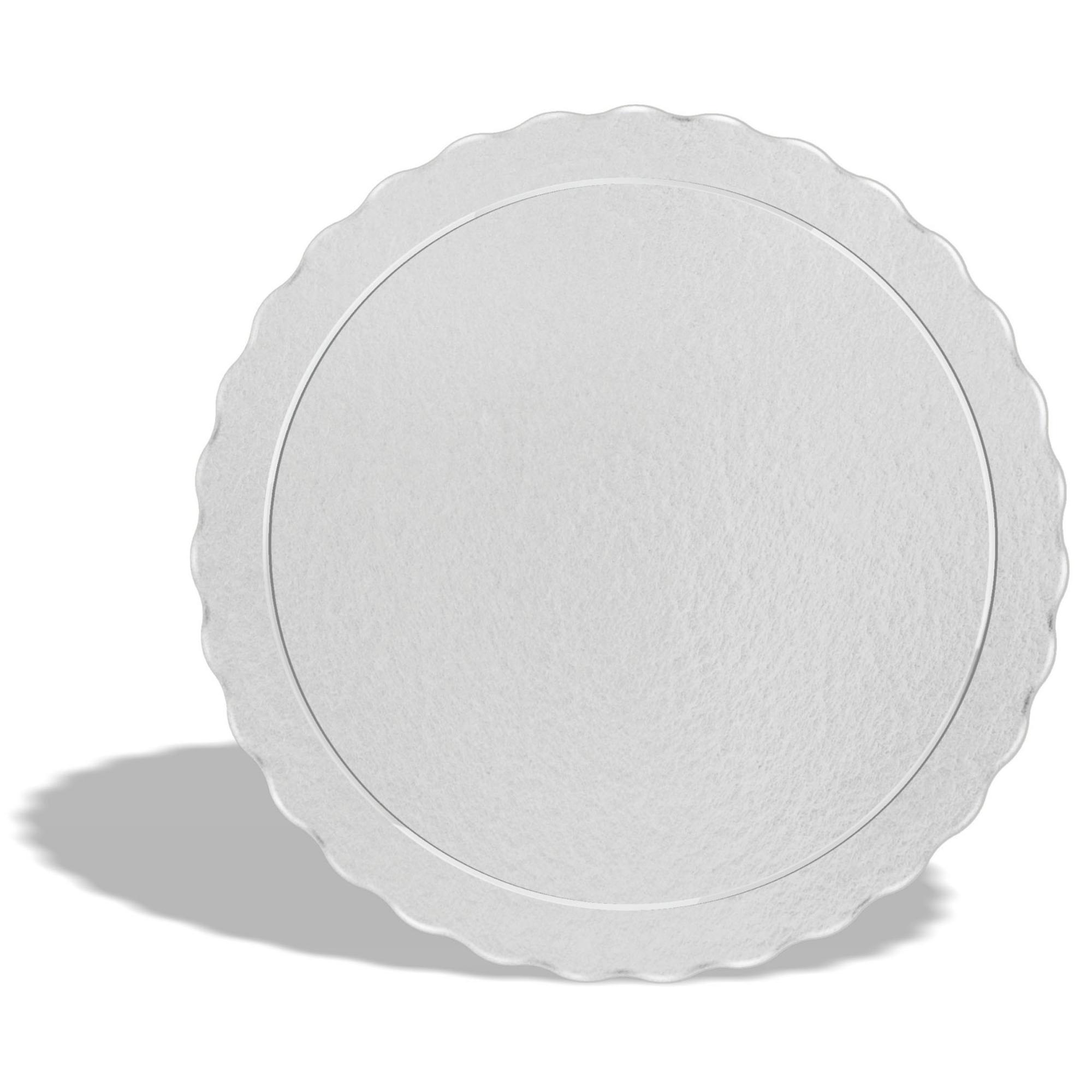 50 Bases Laminadas Para Bolo Redondo, Cake Board 35cm - Branco