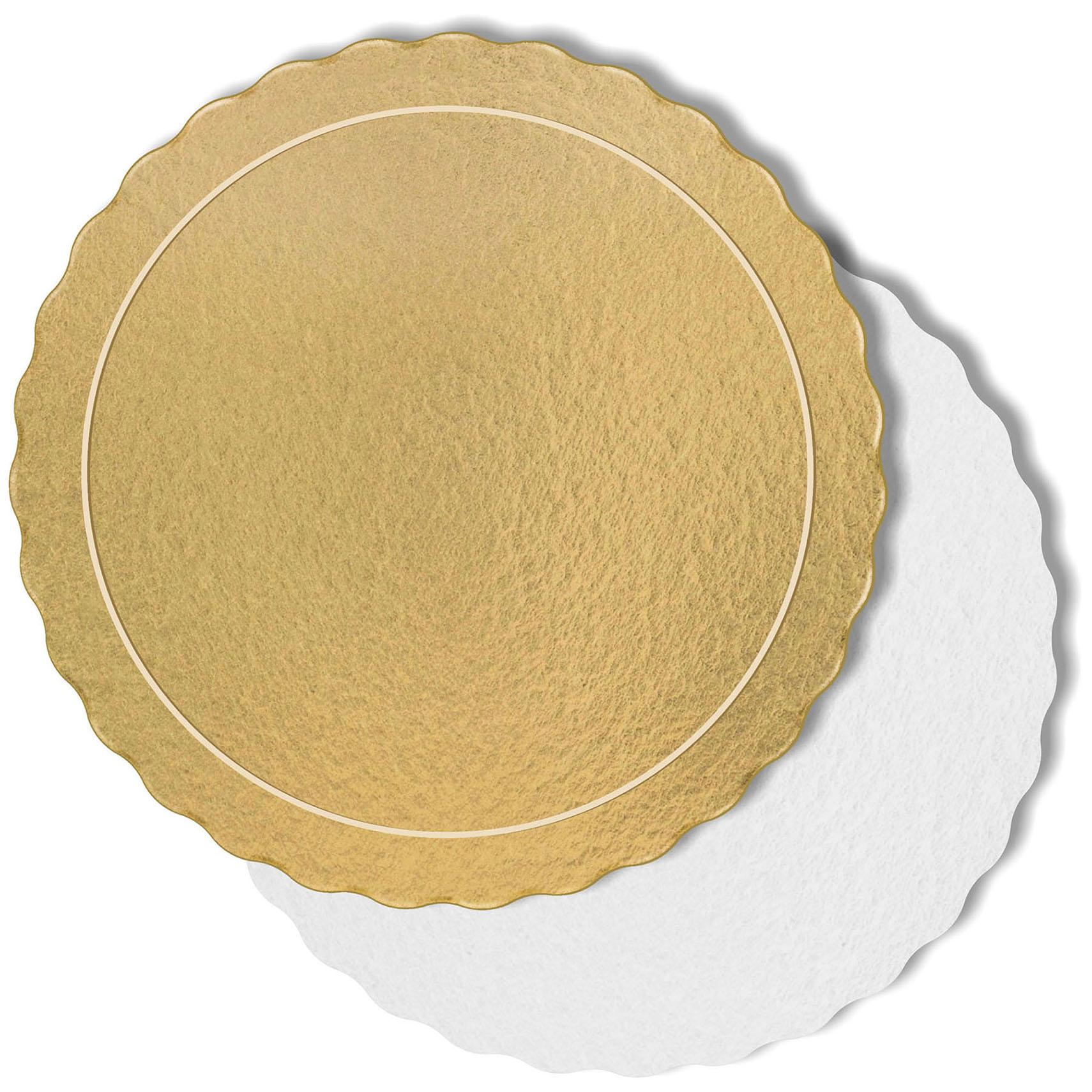 50 Bases Laminadas P/ Bolo 35cm - Ouro