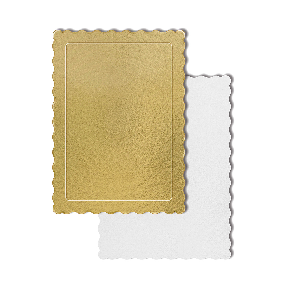 50 Bases Laminadas P/ Bolo 35x25cm - Ouro