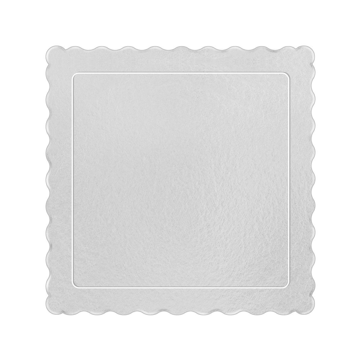50 Bases Laminadas Para Bolo Quadrado, Cake Board 25x25cm - Branco
