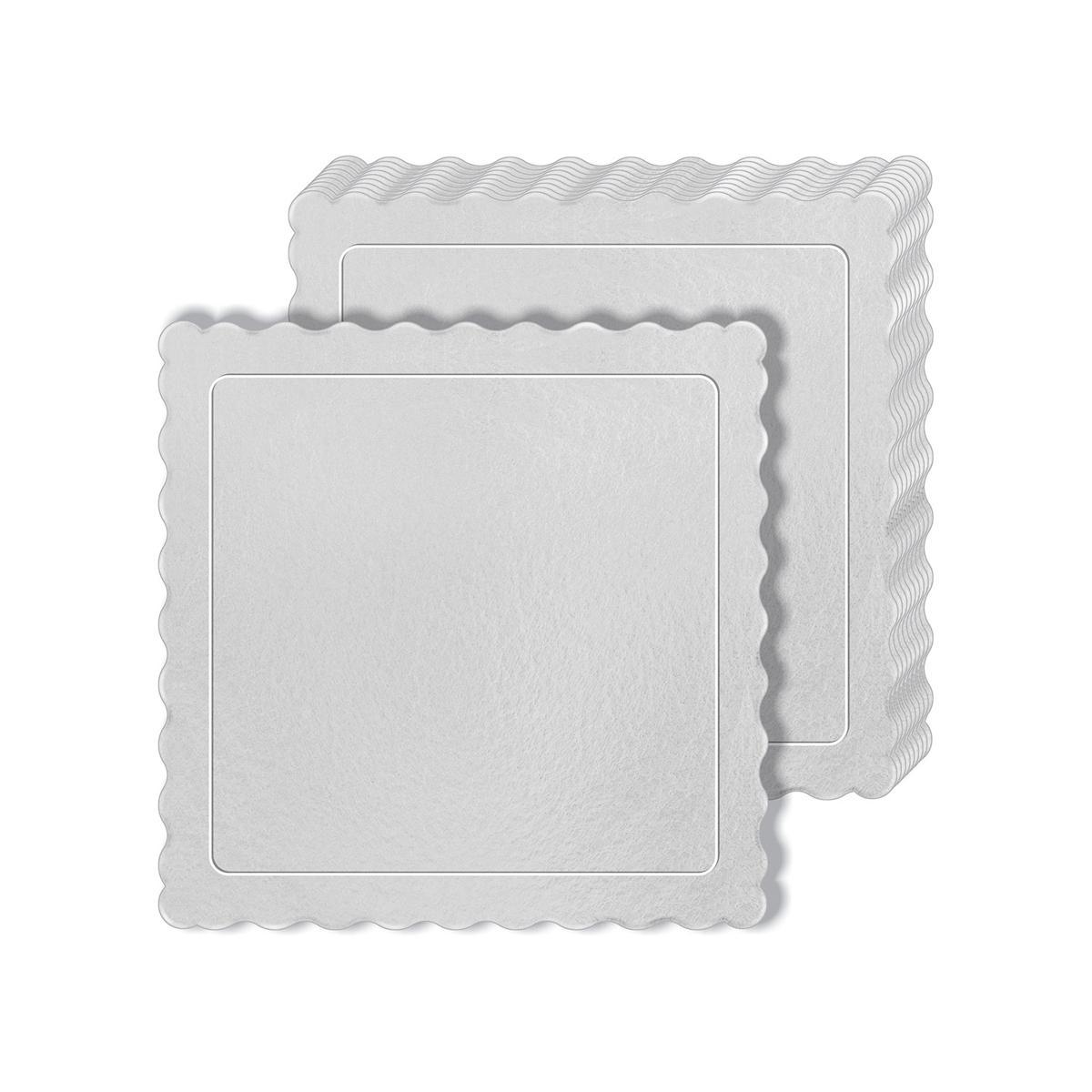 50 Bases Laminadas Para Bolo Quadrado, Cake Board 28x28cm - Branco