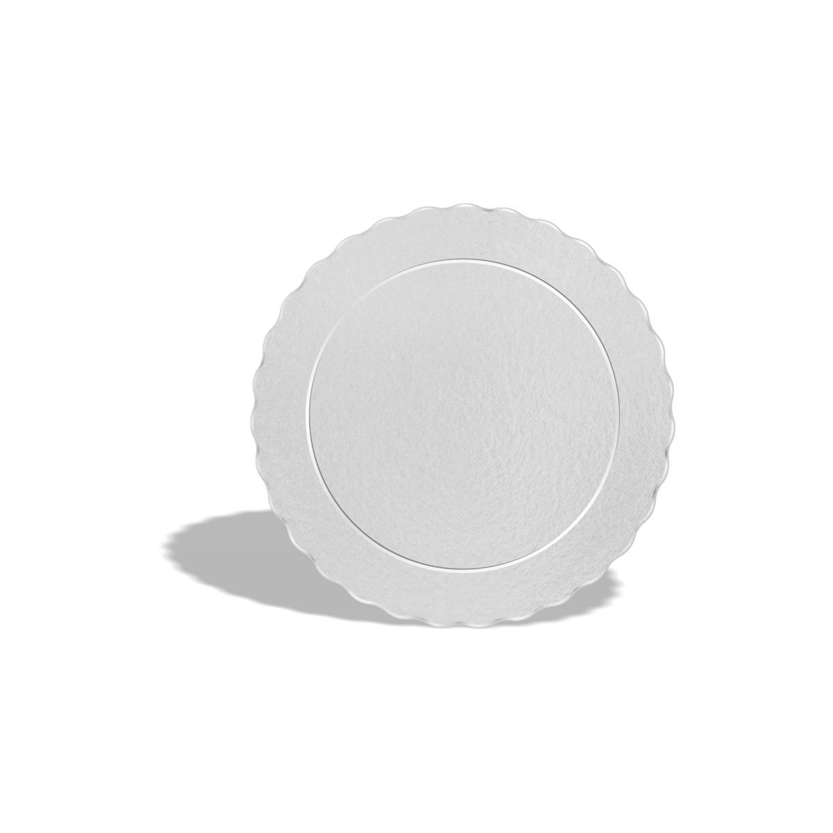 50 Bases Laminadas Para Bolo Redondo, Cake Board 12cm - Branco
