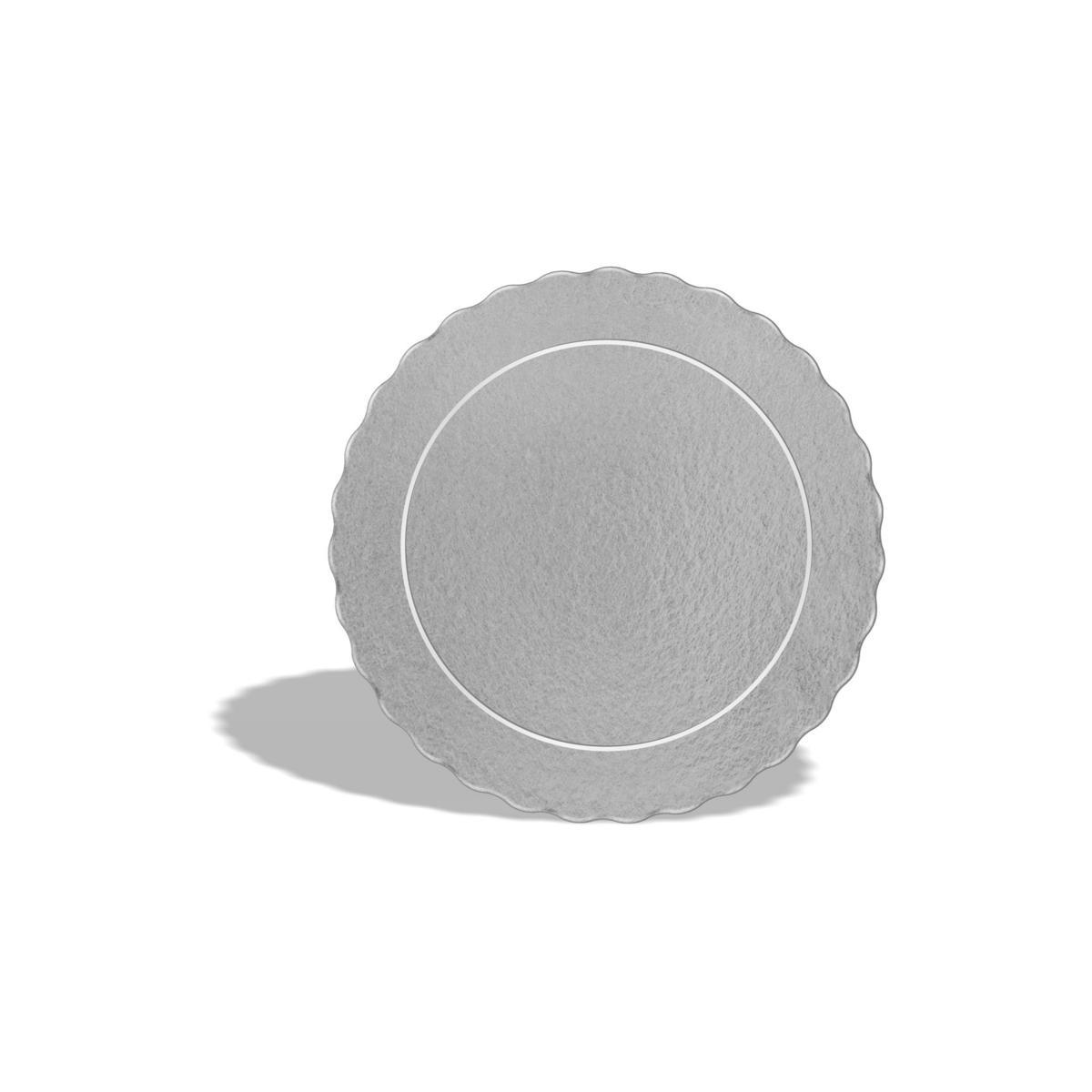 50 Bases Laminadas Para Bolo Redondo, Cake Board 12cm - Prata