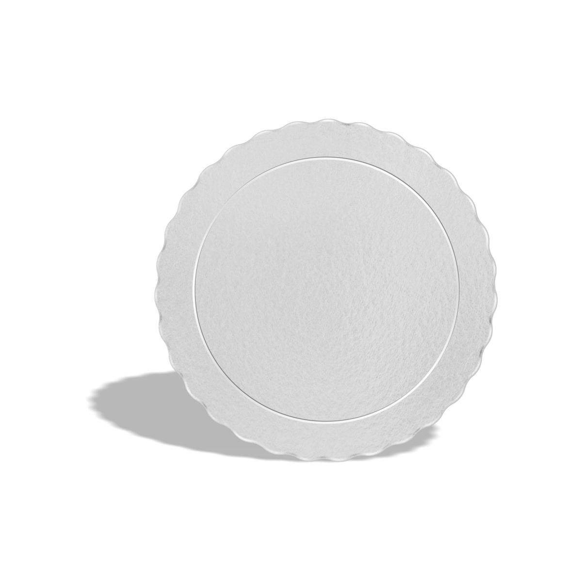 50 Bases Laminadas Para Bolo Redondo, Cake Board 24cm - Branco