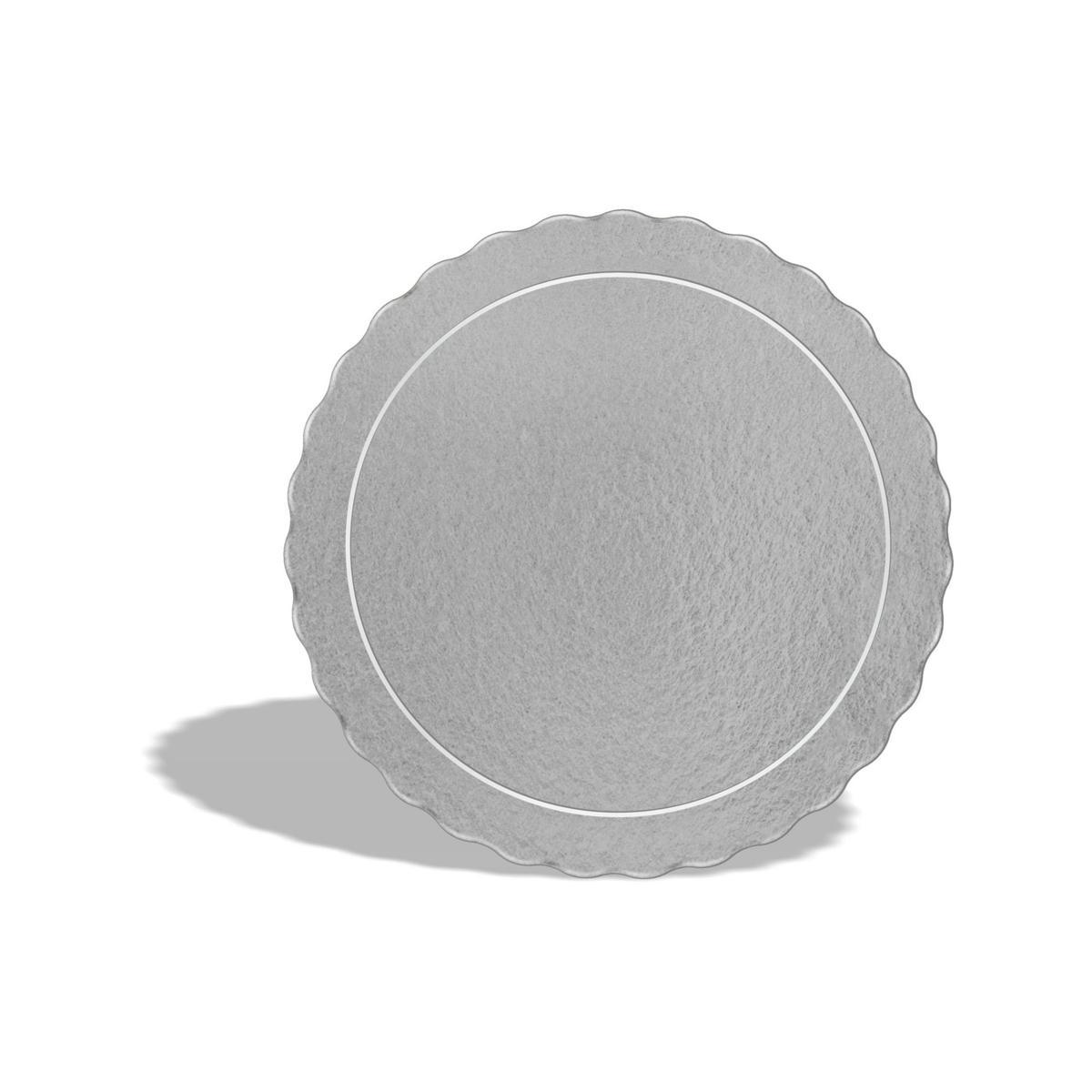 50 Bases Laminadas Para Bolo Redondo, Cake Board 28cm - Prata