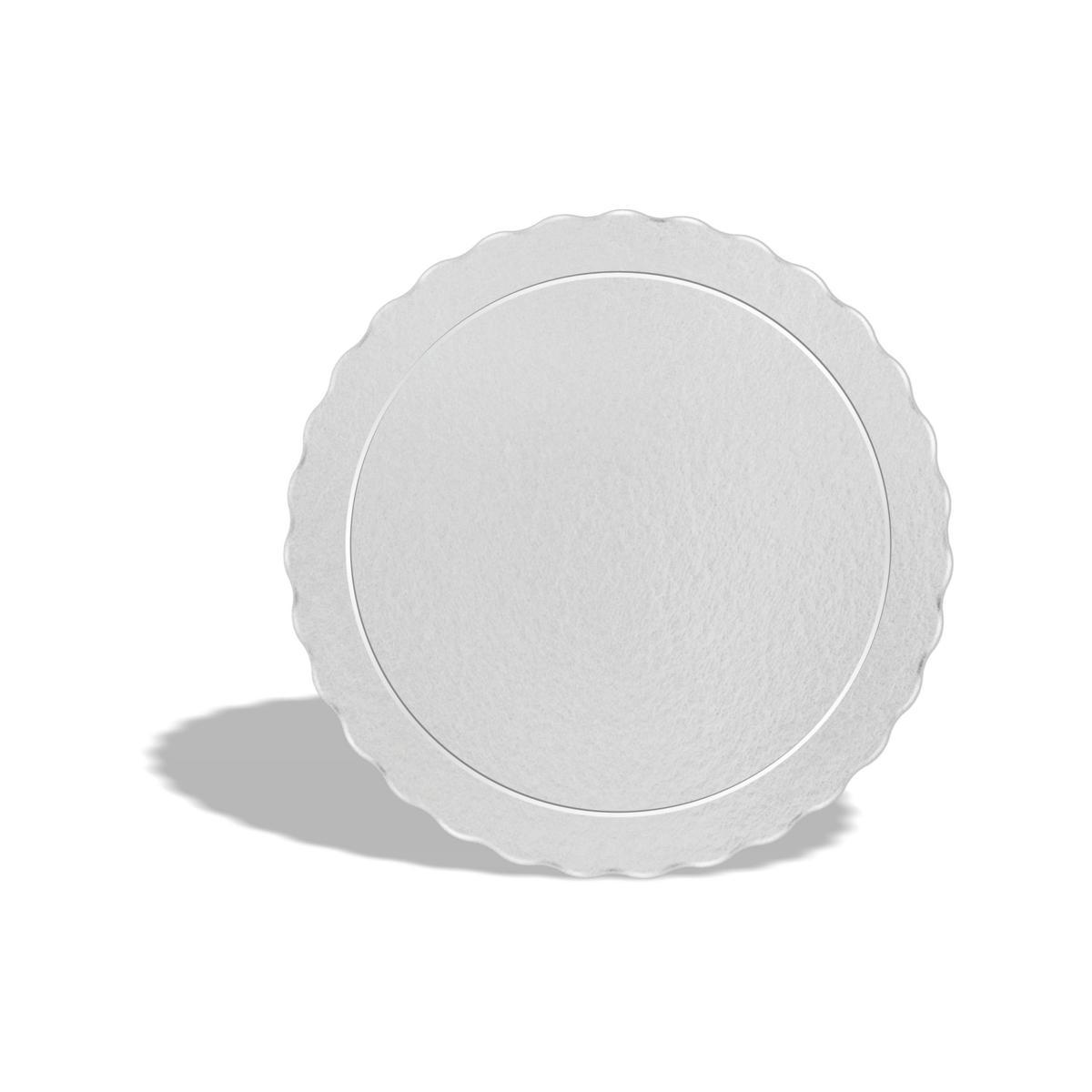 50 Bases Laminadas Para Bolo Redondo, Cake Board 32cm - Branco