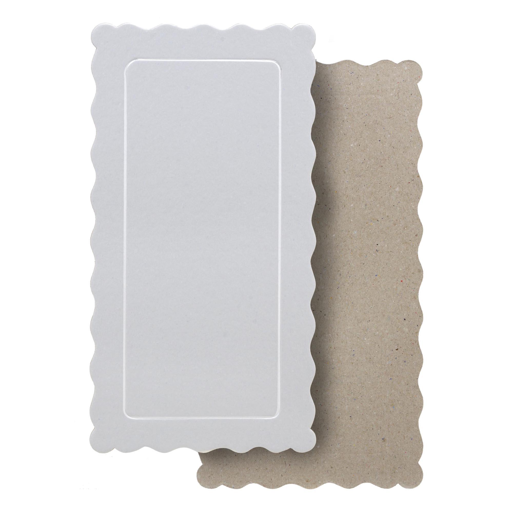 50 Bases Laminadas Para Bolo Retangular, Cake Board 29x15cm - Branco
