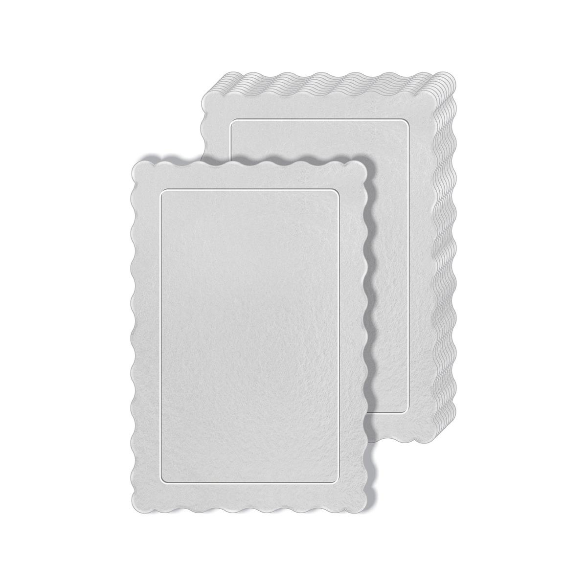 50 Bases Laminadas Para Bolo Retangular, Cake Board 30x20cm - Branco