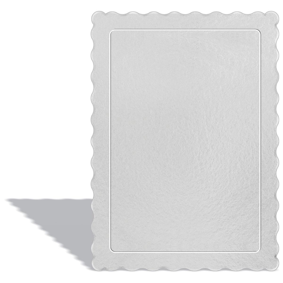 50 Bases Laminadas Para Bolo Retangular, Cake Board 35x25cm - Branco
