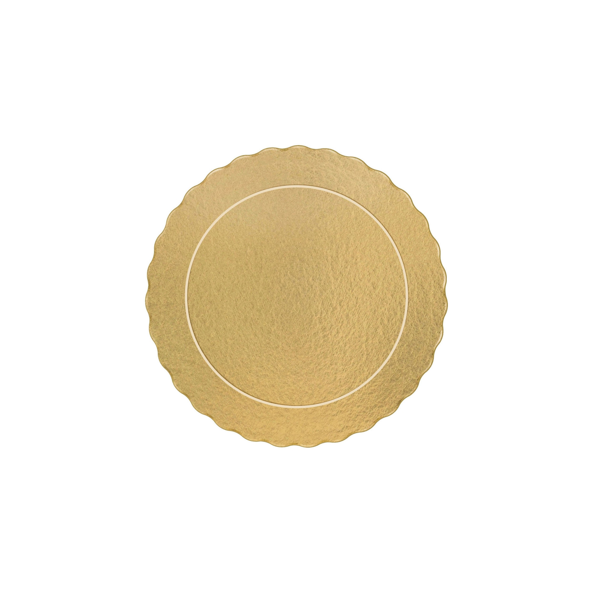 50 Bases Laminadas, Suporte P/ Bolo, 15cm - Ouro
