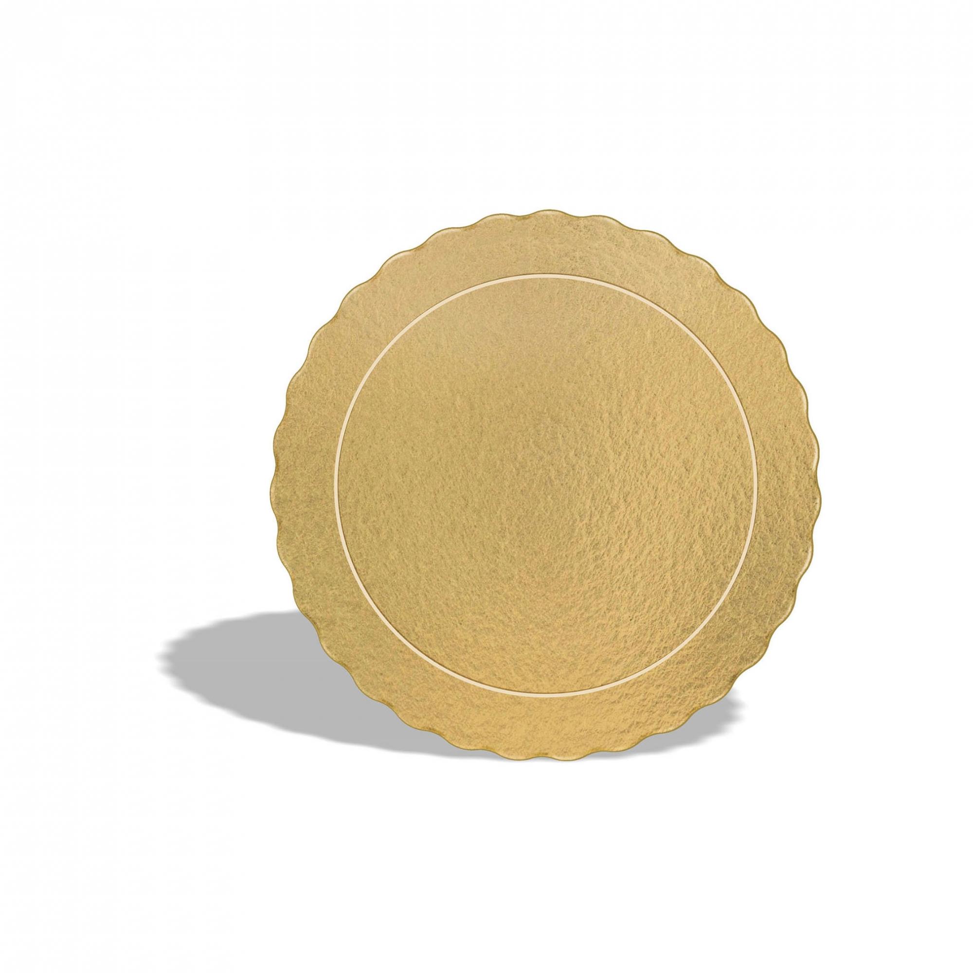 50 Bases Laminadas, Suporte P/ Bolo, 17cm - Ouro