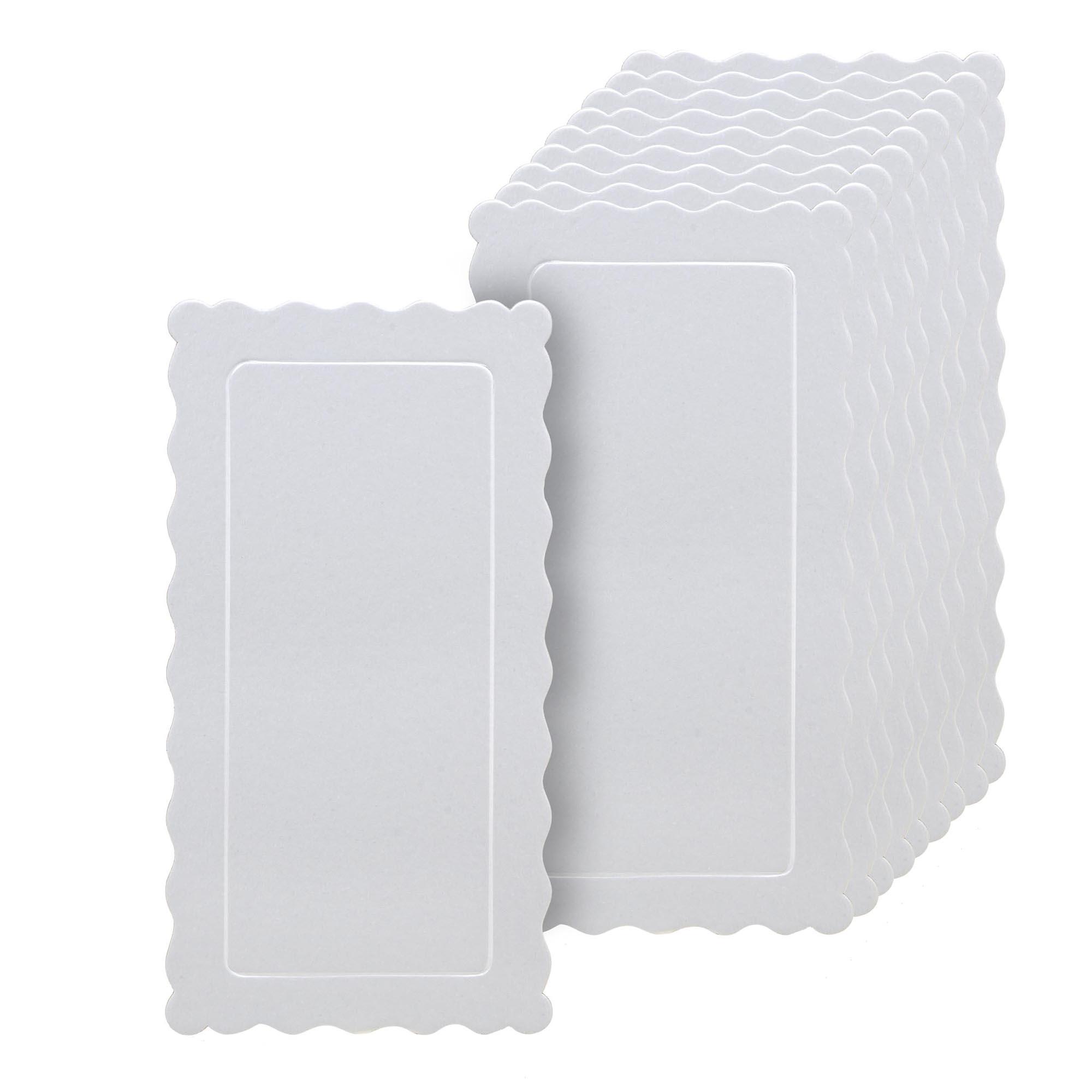 50 Bases Laminadas, Suporte P/ Bolo, 29x15cm - Branca