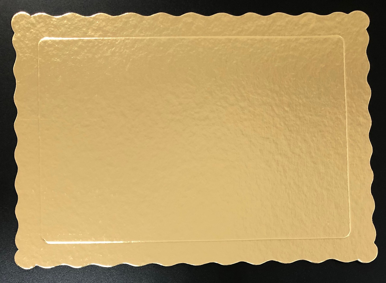 50 Bases Laminadas, Suporte P/ Bolo, 35x25cm - Ouro