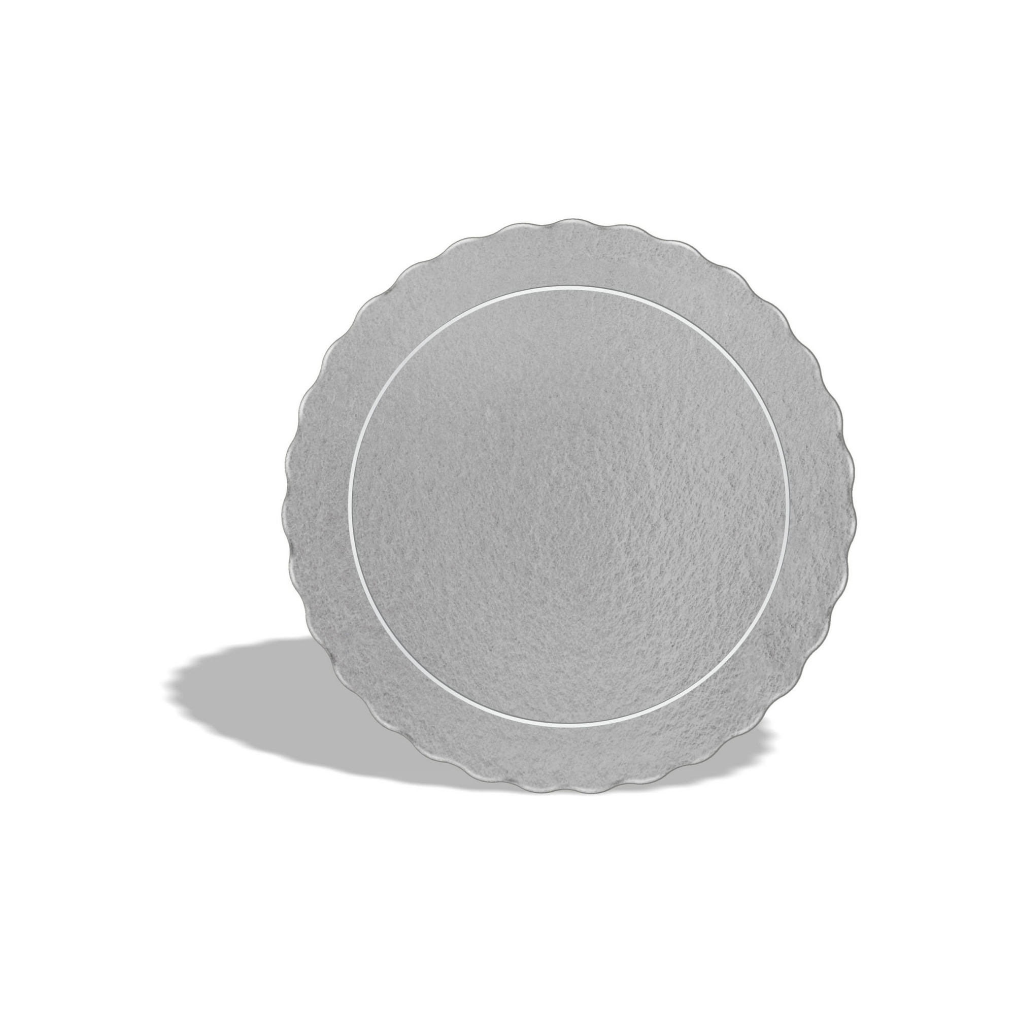 50 Bases Laminadas Para Bolo Redondo, Cake Board 20cm - Prata