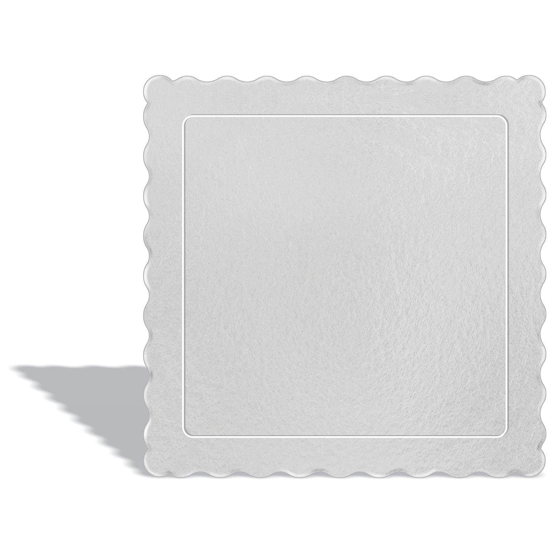 50 Bases Laminadas Para Bolo Quadrado, Cake Board 20x20cm - Branco
