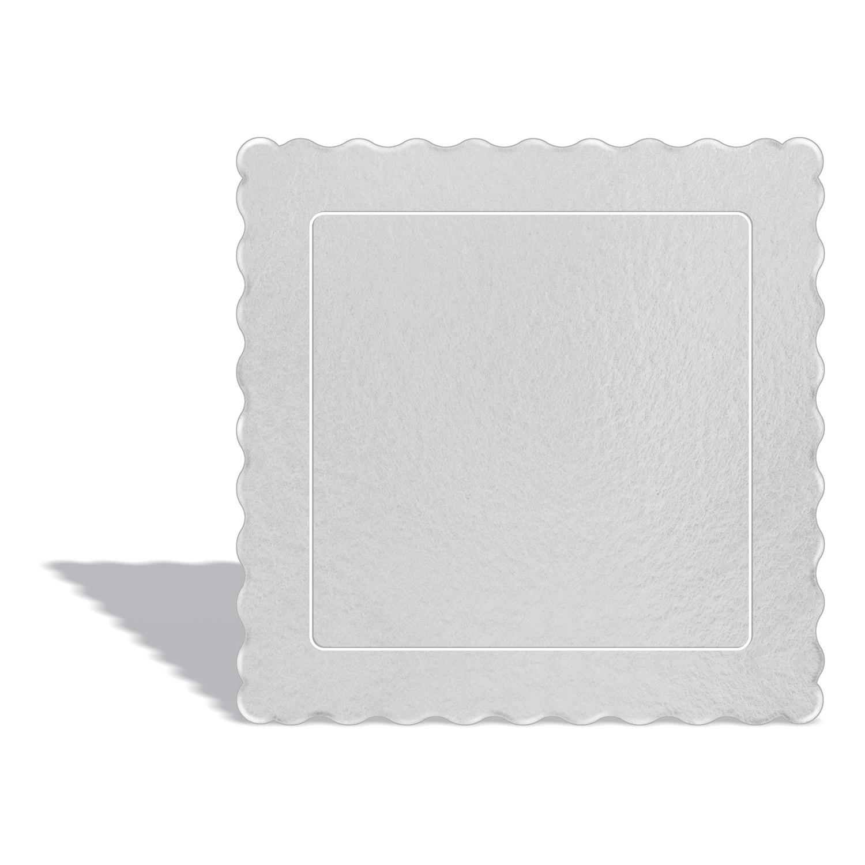 50 Bases Laminadas, Suporte P/ Bolo, Cake Board, 20x20cm - Branca