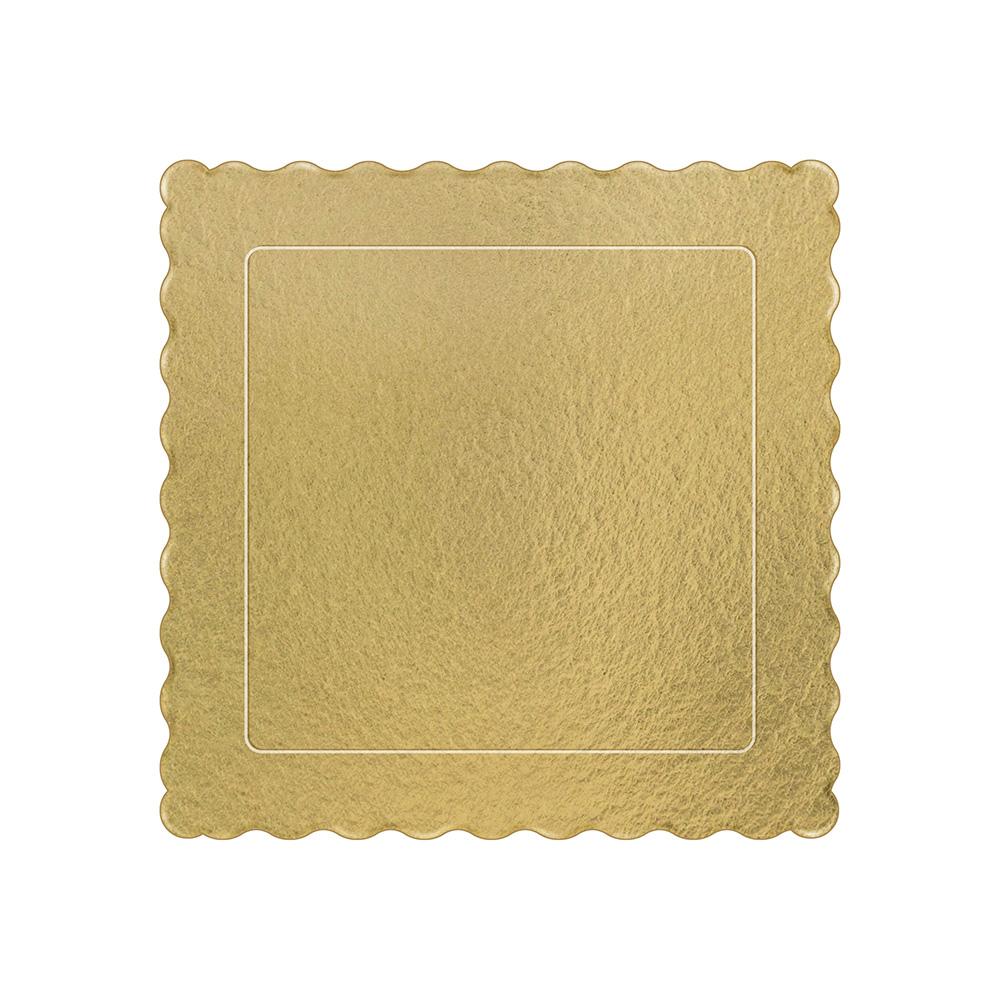 50 Bases Laminadas Para Bolo Quadrado, Cake Board 20x20cm - Ouro
