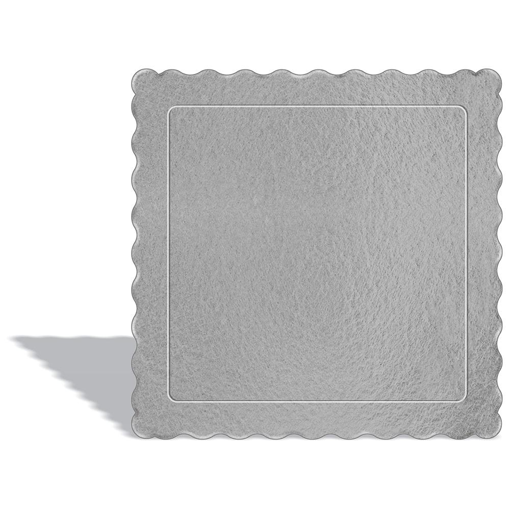 50 Bases Laminadas Para Bolo Quadrado, Cake Board 20x20cm - Prata