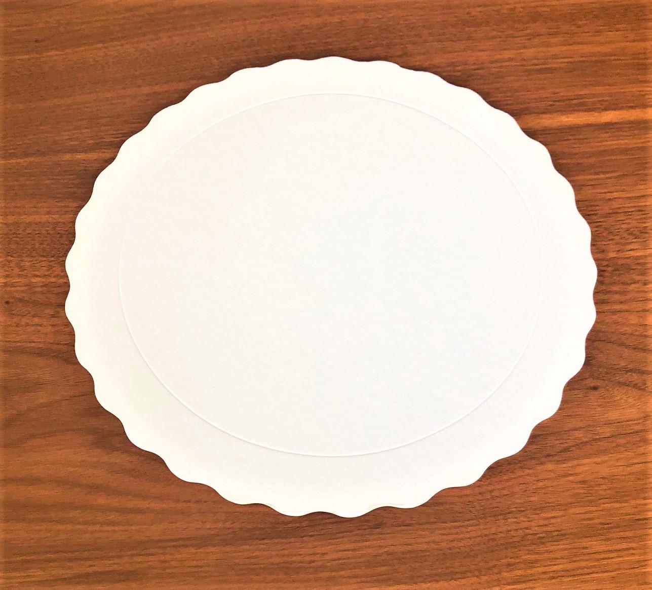 50 Bases Laminadas Para Bolo Redondo, Cake Board 23cm - Branco