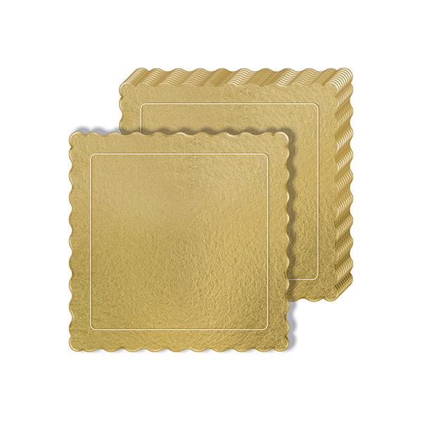 50 Bases Laminadas, Suporte P/ Bolo, Cake Board, 25x25cm - Ouro