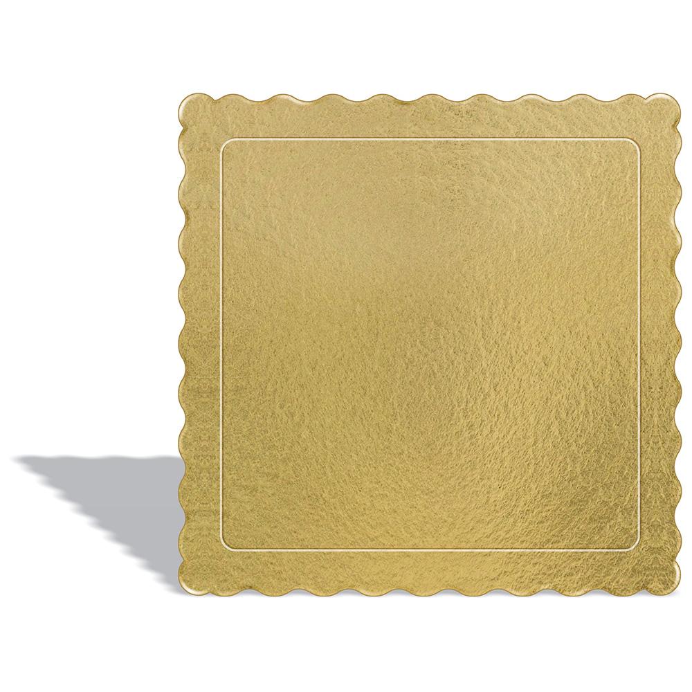 50 Bases Laminadas, Suporte P/ Bolo, Cake Board, 28x28cm - Ouro