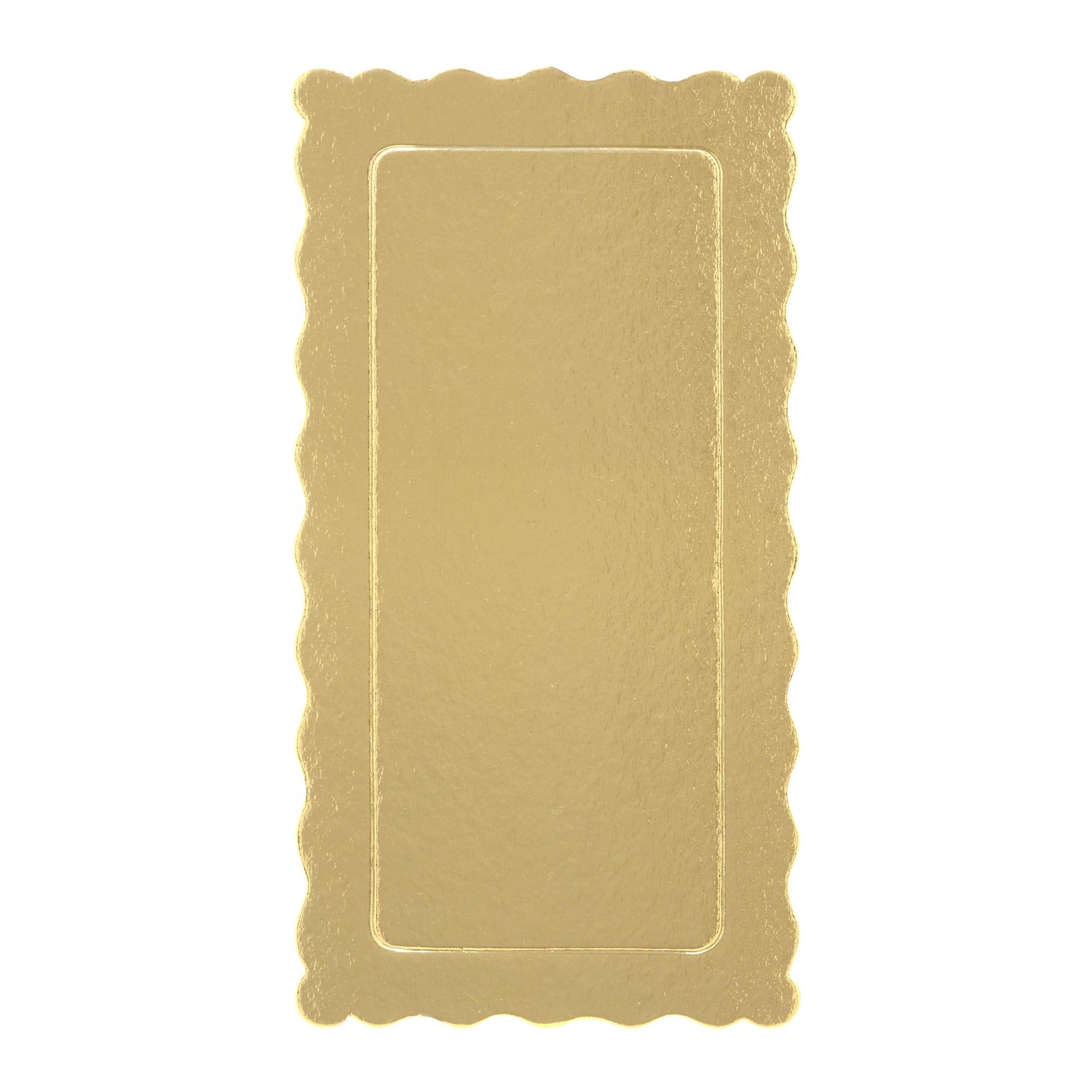 50 Bases Laminadas, Suporte P/ Bolo, Cake Board, 29x15cm - Ouro