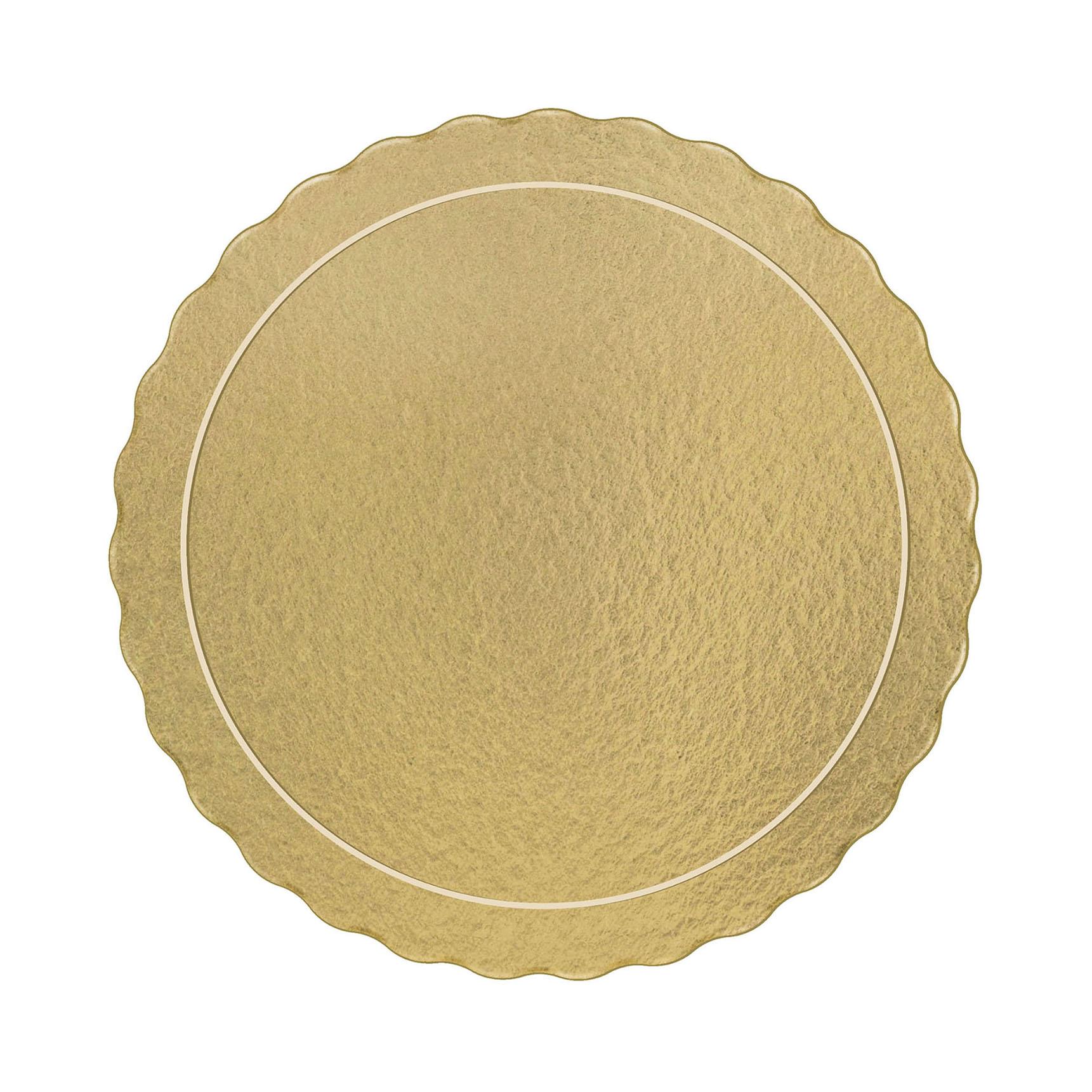 Kit 50 Bases Laminadas Para Bolo, Cake Board, 20 e 28cm - Ouro