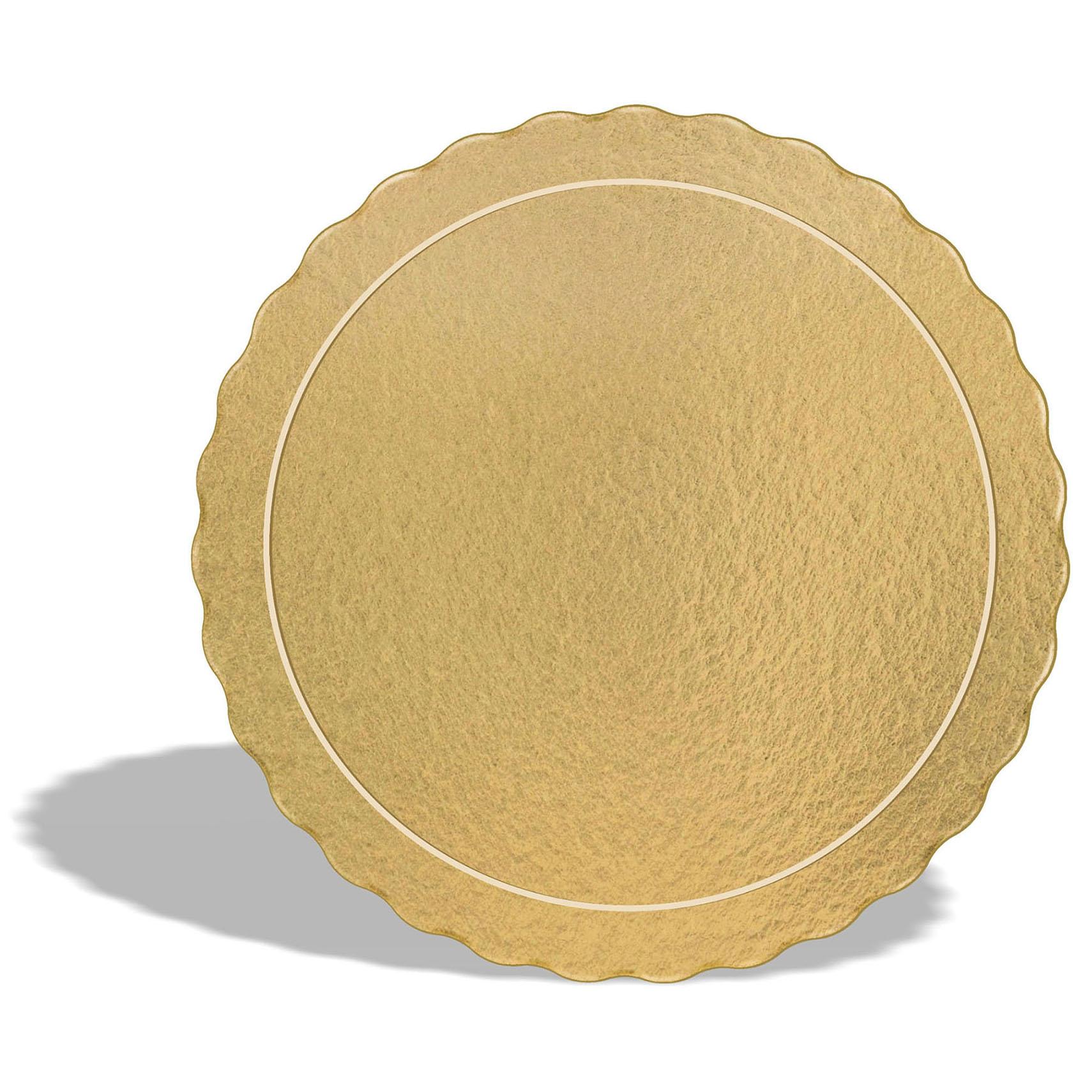 Kit 60 Bases Laminadas Para Bolo, Cake Board, 24, 28 e 32cm - Ouro