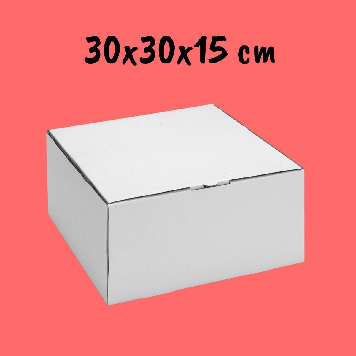 Caixa Para Bolo 30x30x15cm - Pacote com 25 unidades