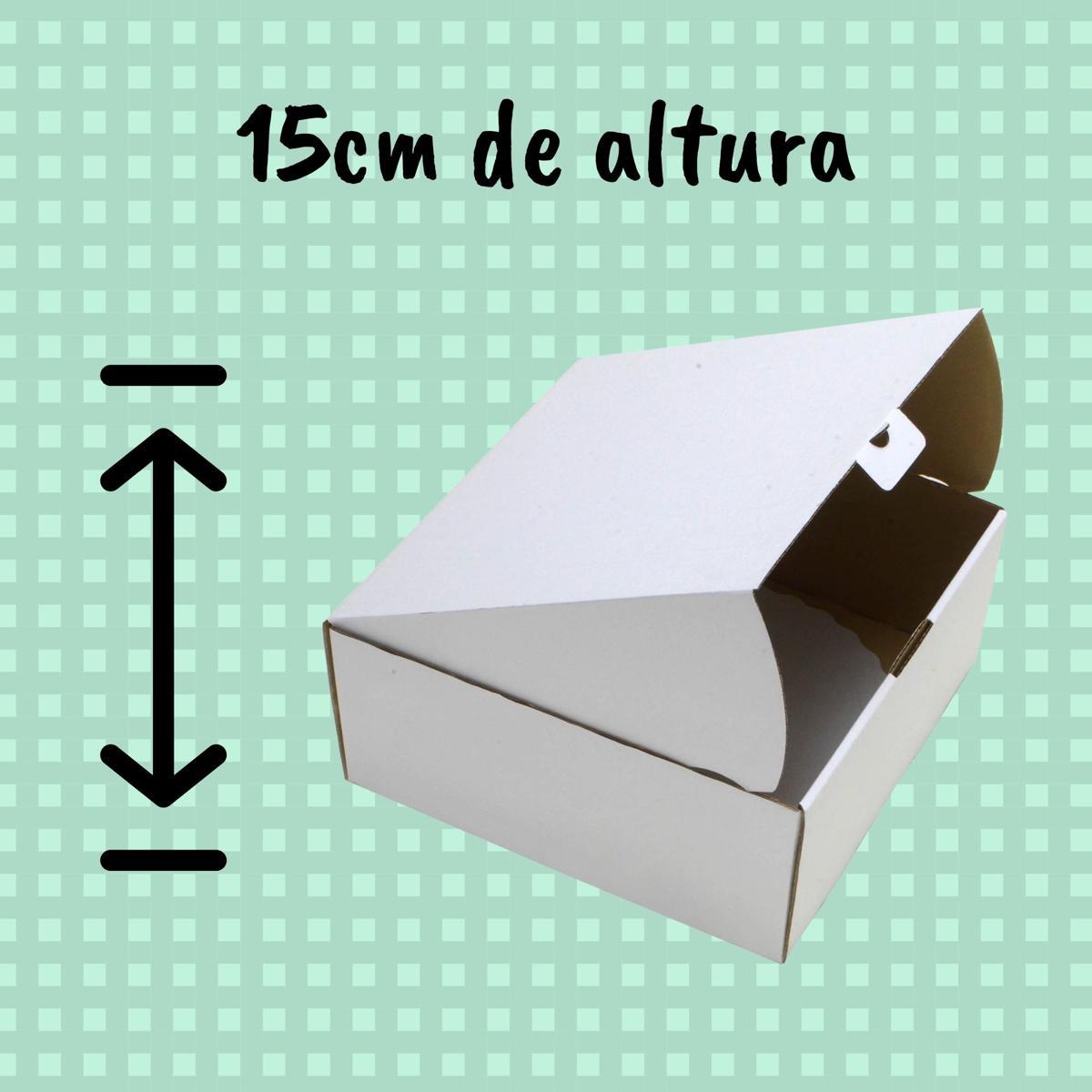 Caixa Para Bolo 35x35x15cm - Pacote com 25 unidades