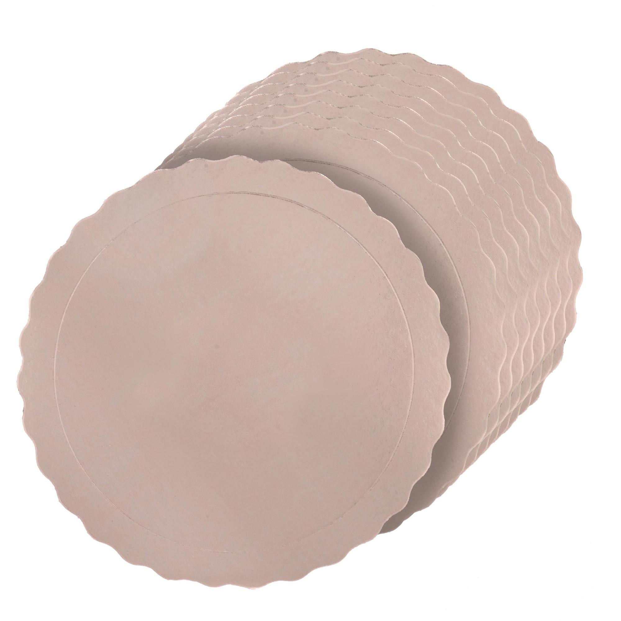 Kit 100 Bases Laminadas Para Bolo, Cake Board, 28 e 32cm - Rose Gold