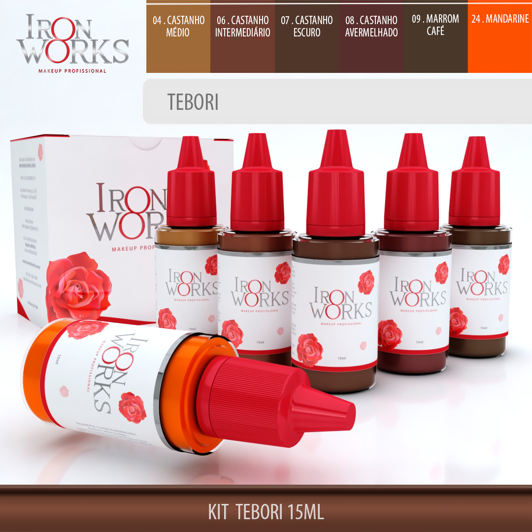 Kit Tebori 15ml - Makeup