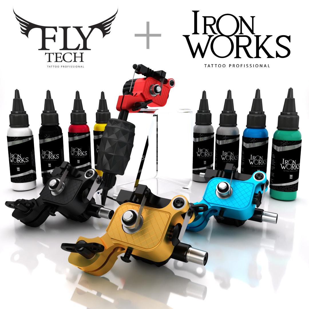 Kit Promocional Fly Tech + 10 tintas de 30ml