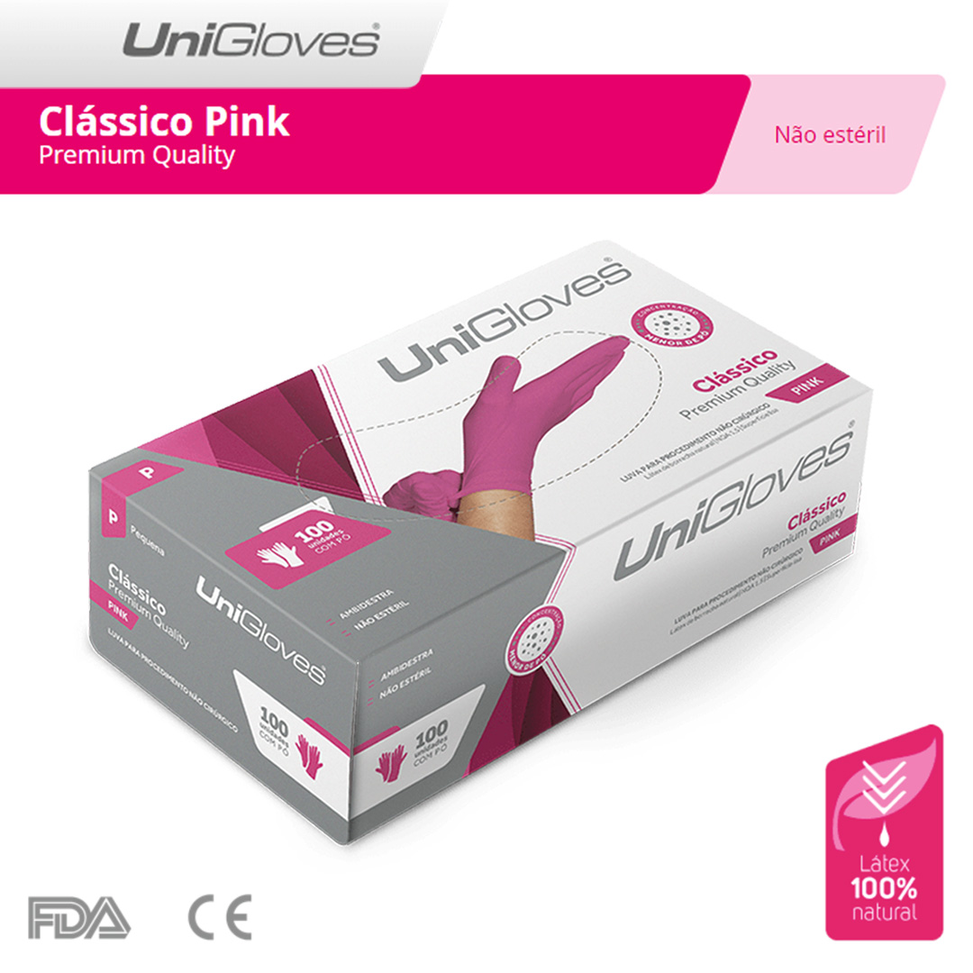 Unigloves Clássico Pink - Premium Quality