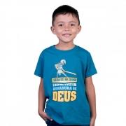 Camiseta Infantil Armadura de Deus - Tam 8