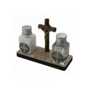 Kit Água, Sal e  Crucifixo de São Bento