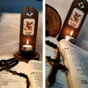 Porta Vela Personalizável - São Miguel Arcanjo