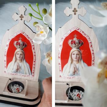 Capelinha Porta Intenções - Nossa Senhora de Fátima