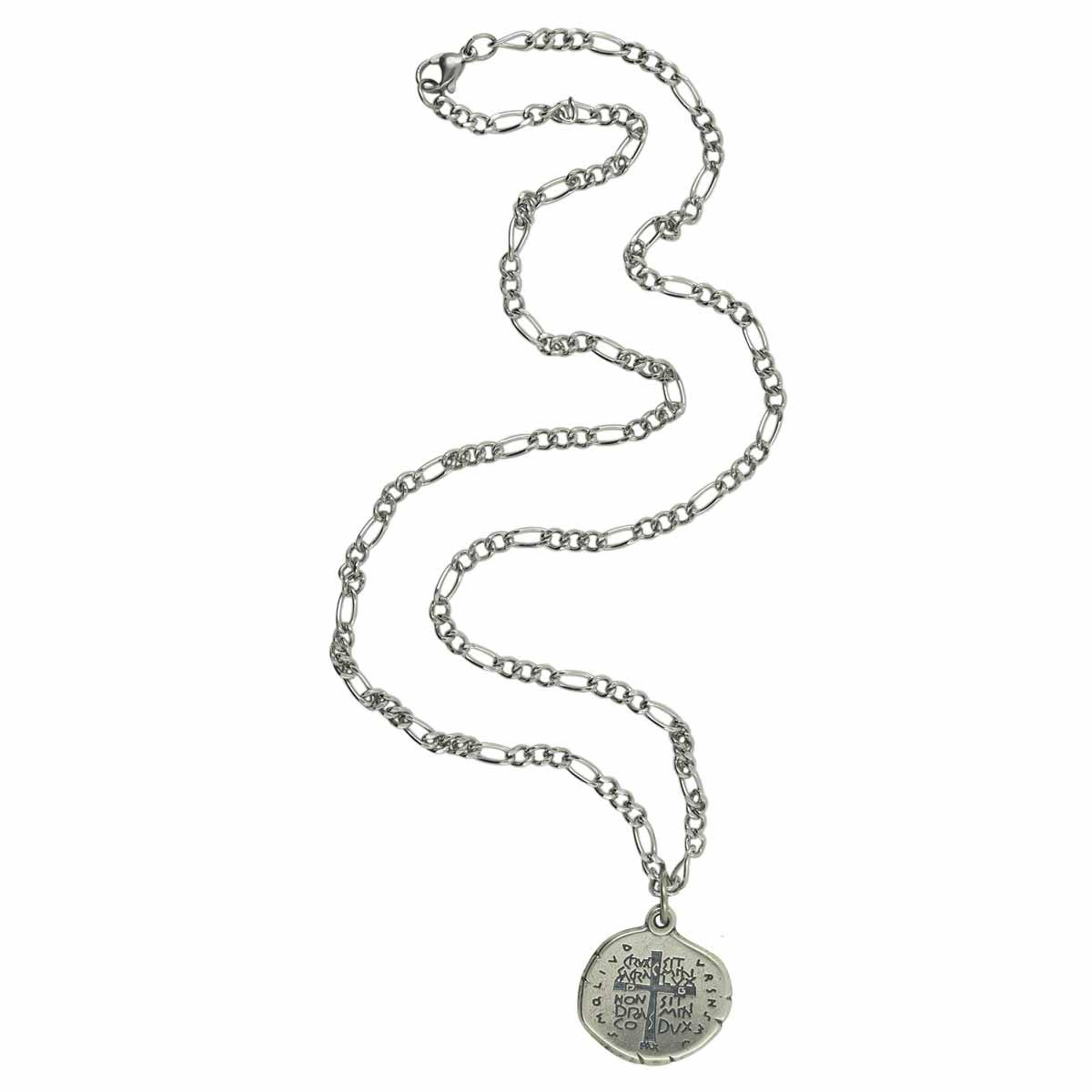 Corrente Inox Medalha das Duas Cruzes - Masculina