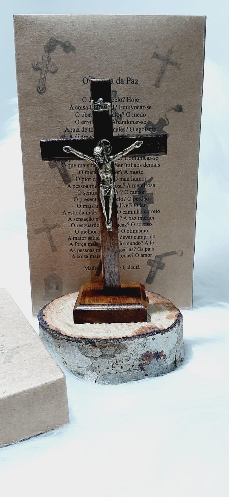 Crucifixo São Miguel Arcanjo - 16cm