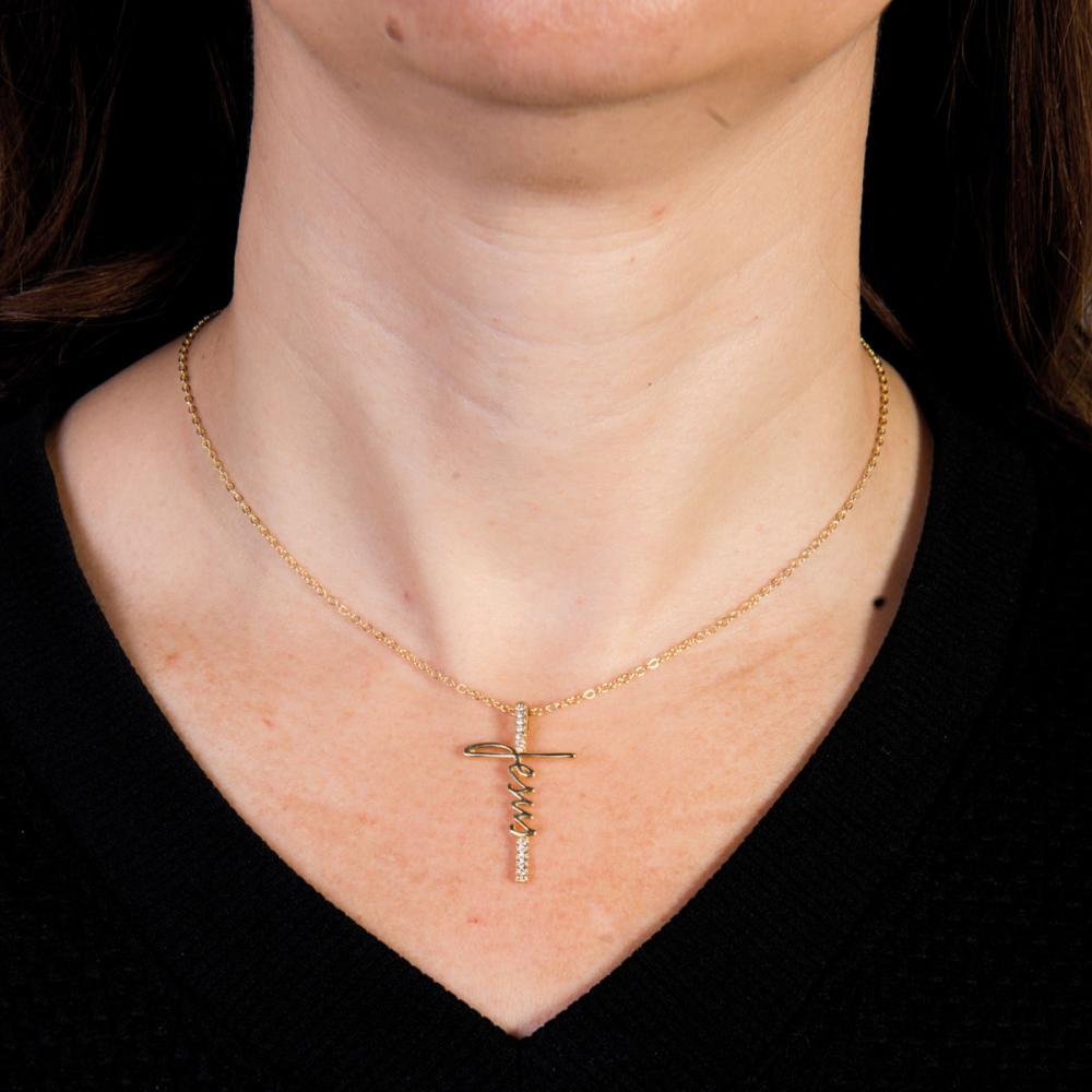 Gargantilha Cruz de Jesus - Semi Joia