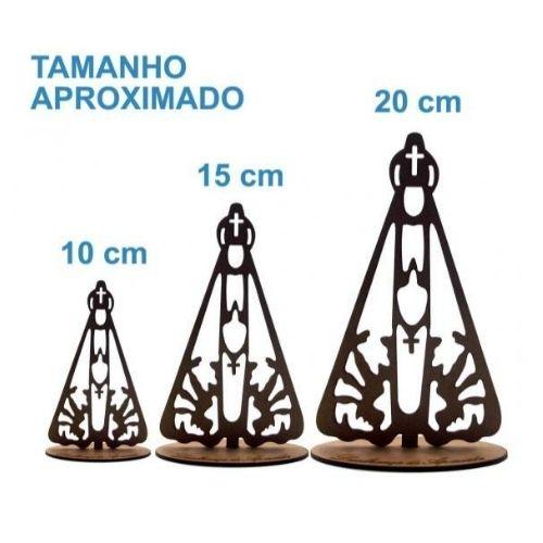 Imagem de Madeira de Nossa Senhora Aparecida - 10 cm